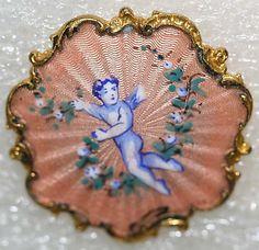 1860s French enamel button.
