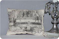 DIY   Vintage Photo Pillows - Pocket Full of Whimsy