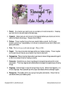 Women's Ministry Tips Free Printable