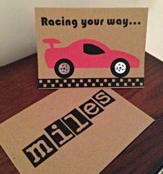 Boys Race Car Birthday Card