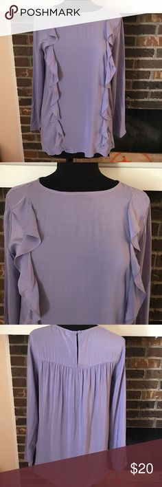 NWOT Old Navy blouse Never been worn, ruffled purple blouse. Lightweight material Old Navy Tops Blouses