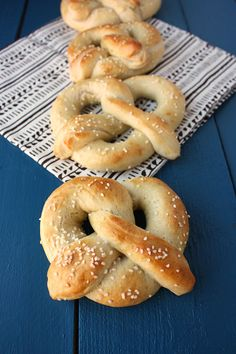 Homemade soft pretzels that are easy to make and well worth any effort.