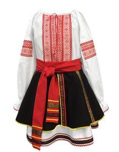 Traditional Romanian costume for women Dance Outfits, Dance Dresses, Folk Clothing, Folk Dance, Folk Fashion, Moldova, Folk Costume, Costumes For Women, Dance Costumes