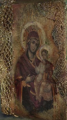 decoupage i jedwabie Ma. Different Kinds Of Art, Mary I, Decoupage Art, Catholic Art, Religious Icons, Madonna, Mixed Media Canvas, Virgin Mary, Holy Spirit