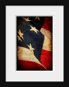 American Flag photograpah  4th of July red by FirstLightPhoto, $35.00