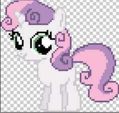My Little Pony Art on Minecraft-PixelArt - DeviantArt
