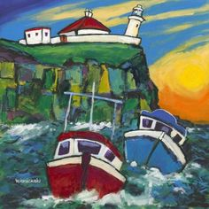 Inner Farne by Bernie Wisniewski Limited Edition mounted print Artist Biography, Sign Printing, Source Of Inspiration, Giclee Print, Vibrant, Paintings, Image, Big Cats, Paint