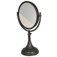 Brushed Bronze 8 Inch Mirror 2x Magnification 17-23-1/2 Inch H - (In Brushed Bronze)