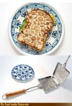 This is the most beautiful toast ever. I would choose aesthetics over function.
