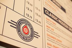 Branding Ascendancy: Fuel Coffee Shop in Brighton, MA. Menu Design, Print Design, Packaging Design, Branding Design, Branding Ideas, American Spirit, Restaurant Branding, Coffee Branding, Brand Identity