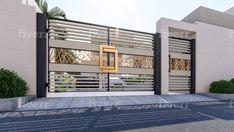 Do floor plan in vray high quality by Surrayashabbir Home Gate Design, Gate Wall Design, House Main Gates Design, Main Entrance Door Design, Steel Gate Design, Modern Entrance, House Front Design, House Entrance, Modern Gates