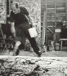 Jackson Pollock, 1950. Photograph by Hans Namuth. Courtesy Center for Creative Photography, University of Arizona © 1991 Hans Namuth Estate