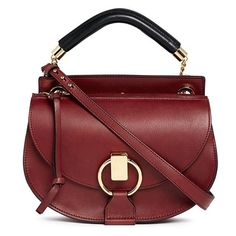 Chloé 'Goldie' small leather satchel (4085 TND) ❤ liked on Polyvore featuring bags, handbags, red, red purse, leather handbags, leather satchel purse, satchel handbags and chloe purses