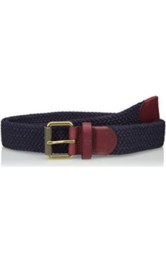Fred Perry Men's Woven Cord Belt, Navy, One Size ❤ Fred Perry Men's Traditional Collections