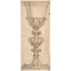 Design for a Chalice (recto) Design for the Base of a Vase (verso) Poster Print by Giovanni Battista Foggini (Italian Florence 1652 Florence) x Italian Interior Design, Florence, Sketching, Glass Art, Candle Holders, Poster Prints, Base, Jar Art, Porta Velas