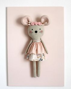 Reserved for Mel Straka. Handmade mouse with a floral by blita