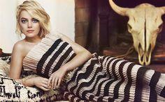 壁紙をダウンロードする Emma石, 2017, 米国人女優, Marie Claire, ハリウッド, 金髪