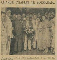 Charlie Chaplin menginap di hotel Oranje (1 April 1932)