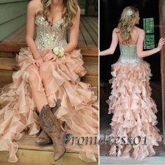 Prom dress 2015, beaded chiffon high low prom dress for teens,maxi dress for #prom2k15, fashion #promdress -> sweetheartdress.s... #coniefox #2016prom