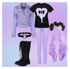 """Outfit 792 (Pastel Goth)"" by creaturefeaturerules ❤ liked on Polyvore featuring Killstar, Givenchy and Rick Owens"