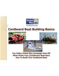 Merrimack Public Library Cardboard Boat Races Information Workshop