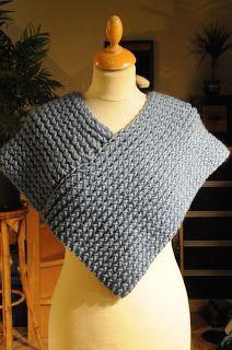 du bout des doigts tricotin géant : cache épaule ou petit poncho