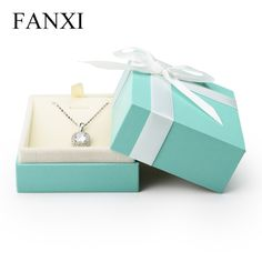 FANXI Free shipping plastic jewellery packaging boxes for jewelry shop packing and party favors necklace and pendant gift case