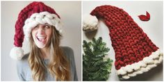 This Chunky Knit Santa Hat Will Be the Coziest Thing You Wear All Winter  - CountryLiving.com