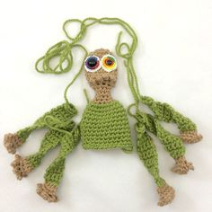This next monster doll is a rough CAL for the #KnotByGranma patrons (at any level). There's a blog post about that & how eyeballs are my favorite part. Link in profile. #crochet