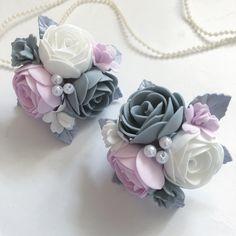 Felt Flowers, Fabric Flowers, Paper Flowers, Polymer Clay Flowers, Polymer Clay Earrings, Ribbon Crafts, Flower Crafts, Foam Crafts, Flower Applique