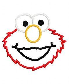 Elmo face applique design instant download by BowsAndClothesDesign, $2.75