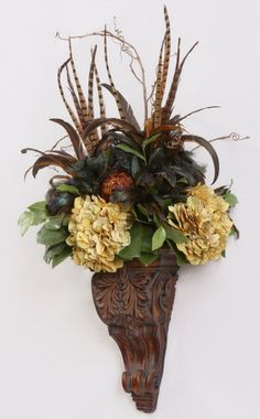 Bathroom Sconces. Floral SwagsSilk Floral ArrangementsTuscan DecoratingWall  ...