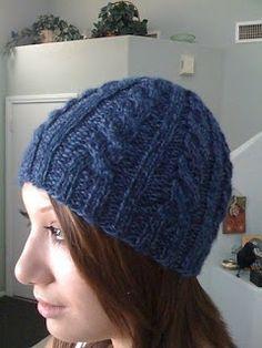Charmedyarn: Basic Cable Hat