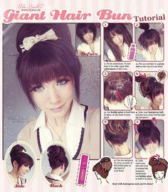 Giant hair bun tutorial