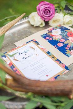 Handmade layered floral DIY wedding invitation | How to make wedding invitations