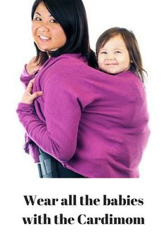 want a cardigan sweater you can use for babywearing. When baby has outgrown you can still wear this genius cardigan! Gentle Parenting, Parenting Hacks, How To Sleep Faster, Thing 1, Maternity Sweater, Pregnancy Signs, How To Wear Scarves, Babywearing, Women Life