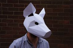 Make your own Pig mask from recycled card for fancy dress or halloween