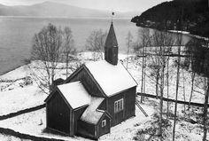 Viken Chapel, Frostviken, Jämtland, Sweden Lake Kvarnbergsvattnet. The wooden chapel was originally built in 1793 by Norwegian settlers. It has been rebuilt and restored several times.