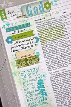 Triple the Scraps: Journaling {Bible} Romans 1:19-20 by Patter Cross.