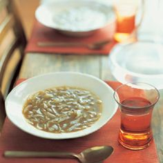 Onion Soup with Apple Cider.  BA 10.04