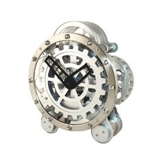 Innovative and stylish, this Mechanical Wonder Mantel Clock helps you stay on track and on time in modern industrial style. You can see all the gears moving at different speeds as the clock runs, so it...  Find the Mechanical Wonder Mantel Clock, as seen in the Beautifully Deconstructed Collection at http://dotandbo.com/collections/beautifully-deconstructed?utm_source=pinterest&utm_medium=organic&db_sku=KIK0028