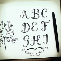 I've started drawing with a pen more without making sketches but just having fun drawing randow things like these letters. by silviadekker