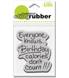 Stampendous Clear Stamp-Birthday Calories at Joann.com