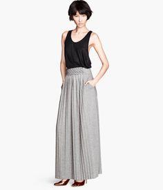 Falda larga plisada| H