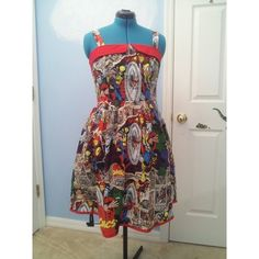 Marvel Comic Book Dress with Pockets ❤ liked on Polyvore