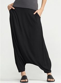 Harem Pant in Lightweight Viscose Jersey