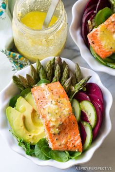 Must-Make Roasted Salmon Detox Salad Recipe | http://ASpicyPerspective.com