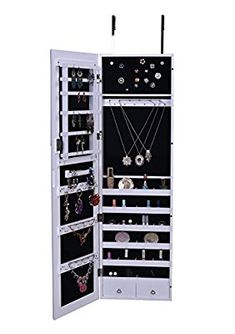 Amazon.com: BTExpert Premium Wooden Jewelry Armoire Wall Mount Cabinet: Kitchen & Dining