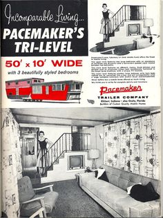 Pacemaker tri-level mobile home ad