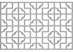 Chinese lattice close-up